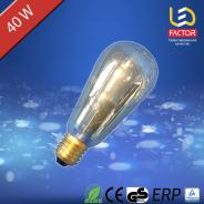 Edison Vintage LF ST64 E27 40W Golden