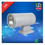 Фасадный односторонний  круглый светильник LF-BR 6Вт
