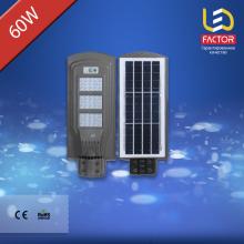 Уличный светодиодный светильник 60 Ватт с солнечной панелью